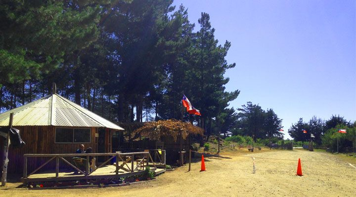 entrada camping laguna del perro camino a cahuil pichilemu
