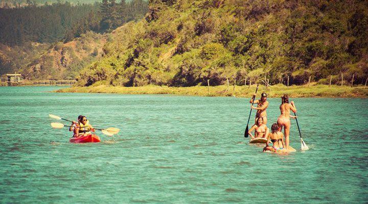 paseo en kayak camping millaco