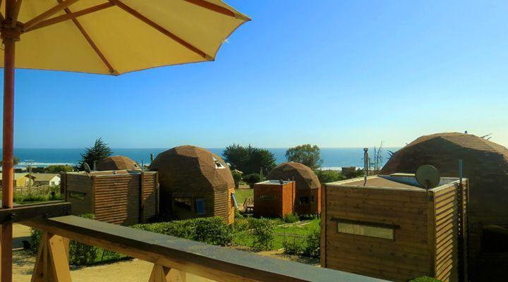 vista desde la terraza pichilemu domos