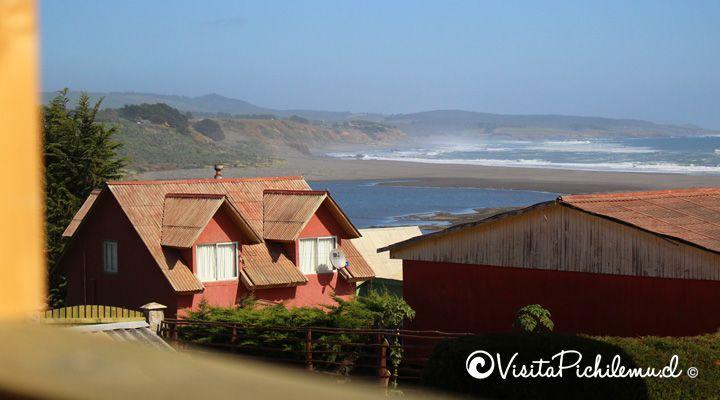 vista desde la terraza cabanas piedra grande cahuil pichilemu