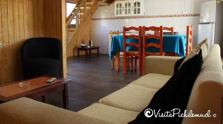living comedor cabana para 4 personas las salinas cahuil