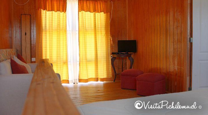 sala de estar cabana para 5 personas las salinas cahuil