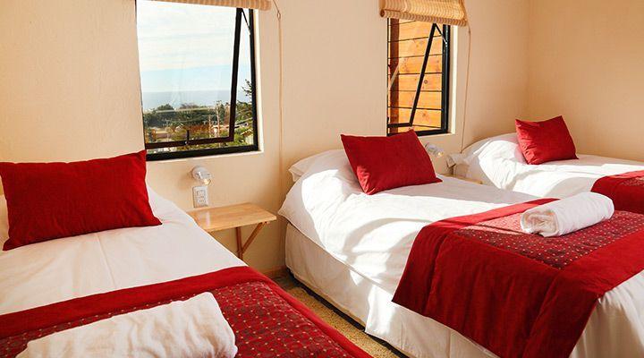 habitacion para 3 personas cabanas costa patagonia pichilemu