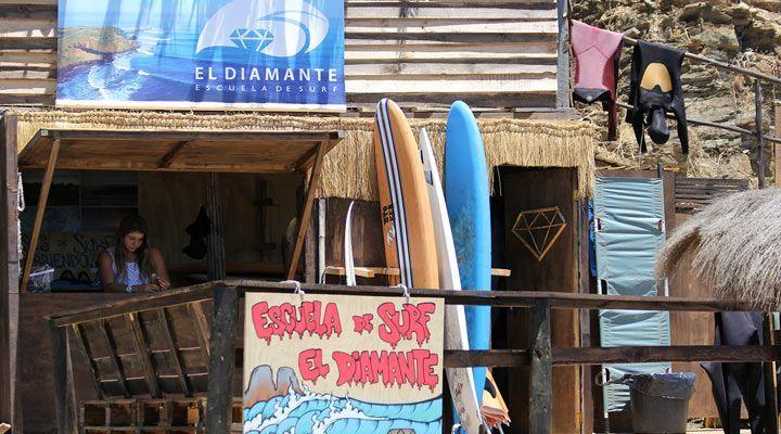 escuela de surf el diamante punta de lobos