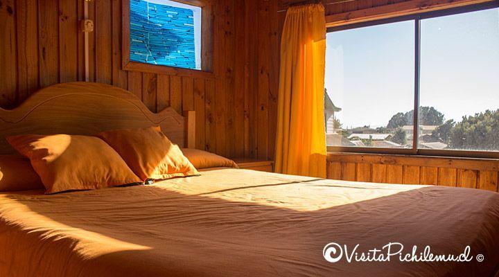 habitacion matrimonial cabanas puertas del sol pichilemu