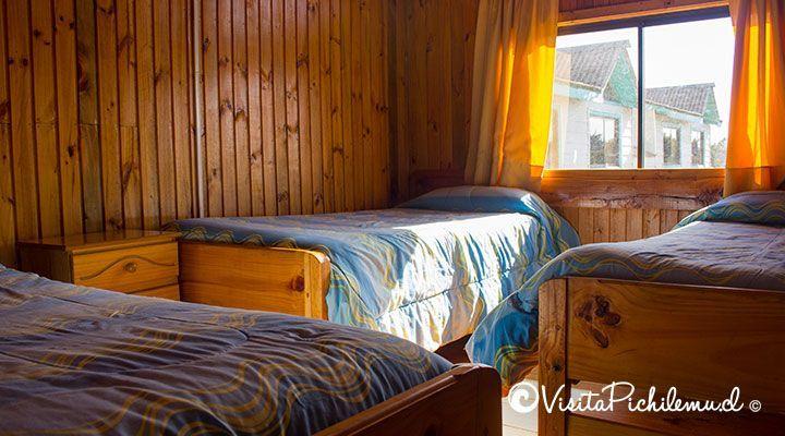 habitacion para 3 personas cabanas puertas del sol pichilemu