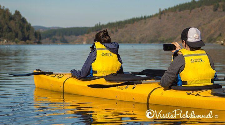 paseos en kayak para 2 personas por la laguna de cahuil