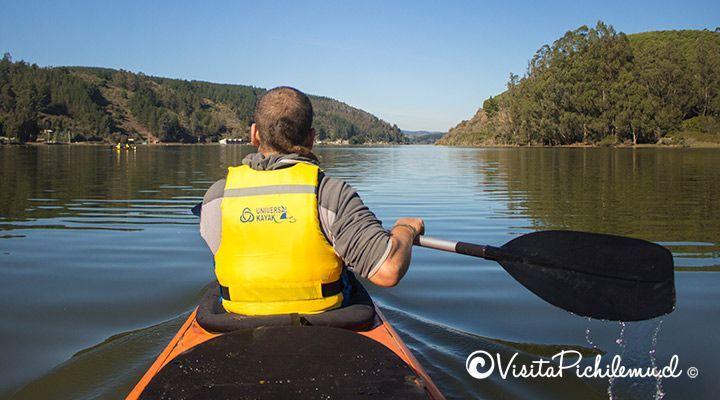 travesia en kayak laguna de cahuil pichilemu