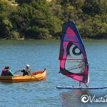 boats and windsurfing lagoon Cahuil