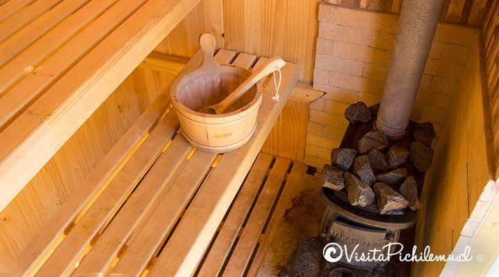 interior sauna, the sirena insolente hostel, punta de lobos, pichilemu