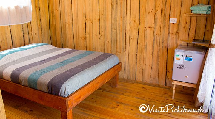 cama matrimonial suite para 2 personas tangaroa lodge cahuil