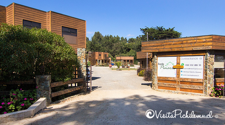 entrada cabanas rancho pinares pichilemu