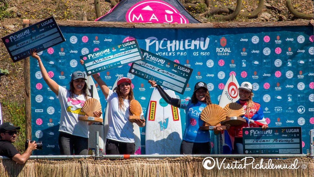 finalistas pichilemu womens pro 2018
